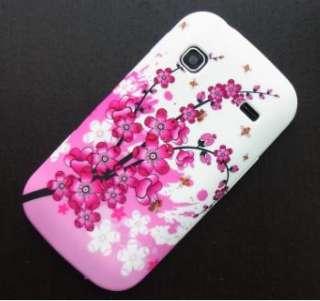 Coque Housse etui Silicone Samsung Galaxy Gio S5660 fleur rouge