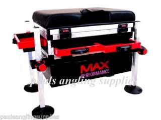 / Match Fishing Seat Box 3 Drawer Square Legs Max Performance