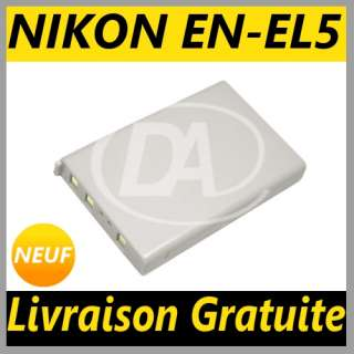 Batterie Li Ion EN EL5 pour Appareil Photo Nikon CoolPix 7900