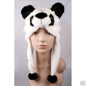 Cartoon animal panda cute fluffy plush Hat cap H1411