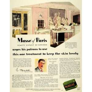 1929 Ad Palmolive Paris Beauty Skin Soap Cleanse Body