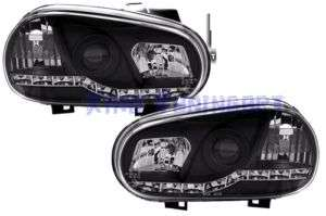 Fari DAYLINE a LED DEVIL EYES NERI BLACK GOLF 4 IV R32