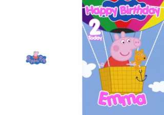 PERSONALISED PEPPA PIG BIRTHDAY CARD