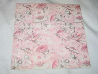 Hallmark Pink Baby Shower Gift Wrap Wrapping Paper Angels T21