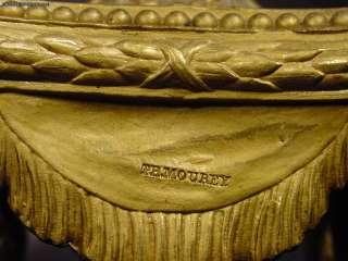 Antique French Gilt Bronze Porcelain 3 Piece Clock Set