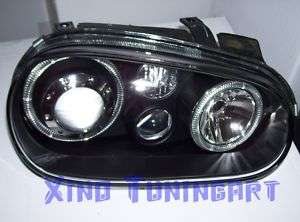 Fari Fanali ANGEL EYES NERI VW GOLF 4 IV Led 1J BLACK W