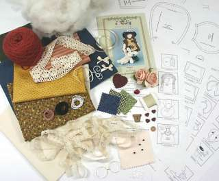 Lizzy & Chloe RAG DOLL CRAFT/ SEWING KIT  Homespun Prim