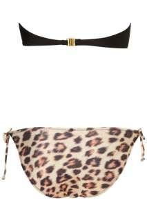TOPSHOP Leopard Tiger Print Bandeau Bikini_UK10