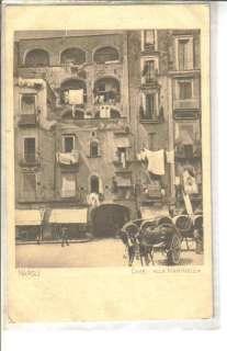 Napoli Italy Case Alla Marinella old Postcard