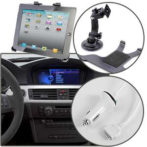 Support Voiture + charg allume cigare Pour iPad 2 a choisir