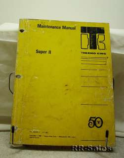 Thermo King Super II di 2.2 Engine Maintenance Manual