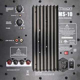 Mission MS10 Active Subwoofer Speaker 150w Black