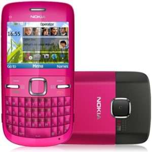 NOKIA C3 Brandnew unlocked mobile phone Pink