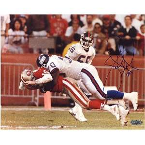 Sports New York Giants Autographed #70 Leonard Marshall Sacking Joe