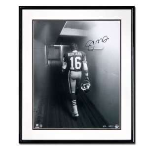 Joe Montana San Francisco 49ers Black & White Tunnel B&W