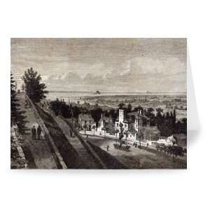 View of the Bay of Mount St. Michael, from..   Greeting Card (Pack of