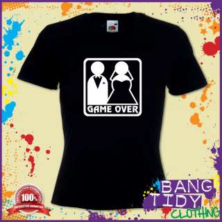 GAME OVER WEDDING GIFT FUNNY HEN PARTY WOMANS T SHIRT