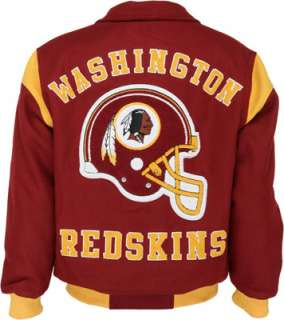 Washington Redskins Team Color Wool Varsity Jacket