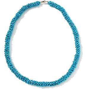 Sleeping Beauty Turquoise Chip 14K Woven 20 1/4 Necklace