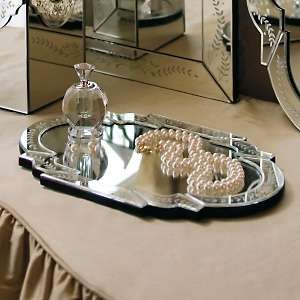 Frontgate Loredana Etched Glass Vanity Mirror Tray