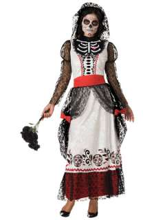 Adult Skeleton Bride Costume   Gothic Bride Costumes   Day of the Dead
