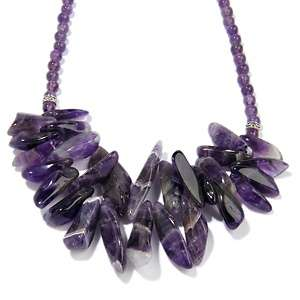 Studio Barse Amethyst Sterling Silver Freeform 16 1/4 Necklace