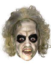 Masks for TV & Movie Costumes   Beetlejuice Three Quarters Vinyl Mask