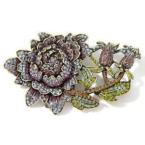 Heidi Daus Moody Hues Crystal Flower Brooch