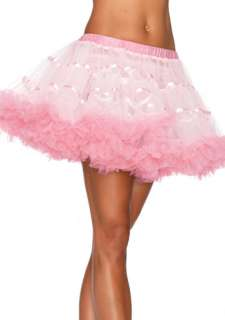 White And Light Pink Satin Striped Tulle Petticoat   Crinolines and