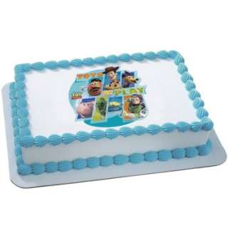 Toy Story 3   Toys at Play Edible Icing Cake Topper   Costumes, 78355