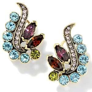 Heidi Daus Rockin Turtle Crystal Accented Earrings