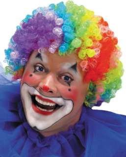 Be your favorite Clown. Seven color, tight curl afro wig. Synthetic