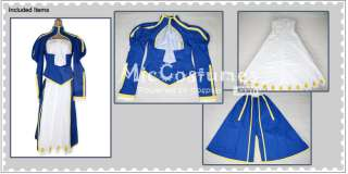 Wanna chat about Fate Stay Night Blue Saber Cosplay Costume