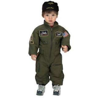 Jr. Armed Forces Pilot Suit Toddler Costume   Includes jumpsuit and