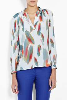 Tucker  Millys Floating Feather Long Sleeve Tunic Blouse by Tucker