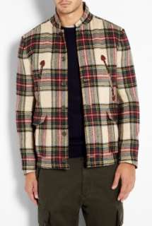 Rag & Bone SHIRT SHIRT  Tan Plaid Wool Ptarmigan Hunting Jacket by