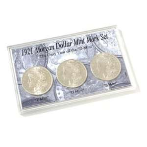 1921 Morgan Dollar Mint Mark Set:  Sports & Outdoors