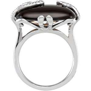 and Stylish Size 7 and 20.00X15.00 MM Genuine Smoky Quartz Ring