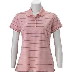 adidas Womens Short Sleeve ClimaLite Multi Stripe Polo