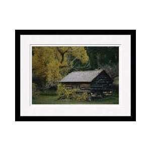 Log Cabin Wheatland Wyoming Framed Giclee Print: Home