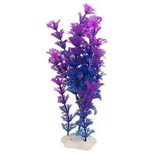 Como Fish Tank Blue Purple Artificial Snowflake Leaves Aquatic