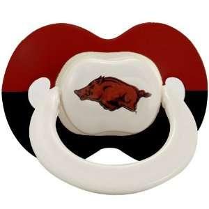 Arkansas Razorbacks Two Tone Logo Pacifier Sports