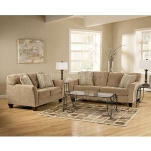 Ashley furniture montgomery mocha living room sofa set for Ashley encore grain chaise