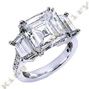2.50 Ct. Asscher Cut Diamond Engagement Ring J, VS1 Jewelry