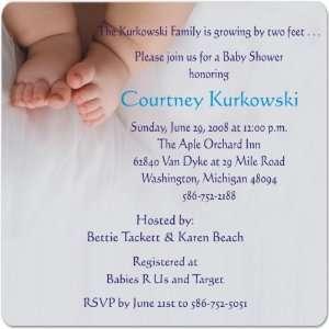 Ten Toes Magnet Medium Baby Shower Invitations