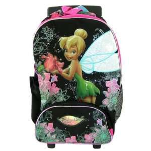 Shimmer Tinker Bell Rolling Backpack   Full Size Tinkerbell Luggage