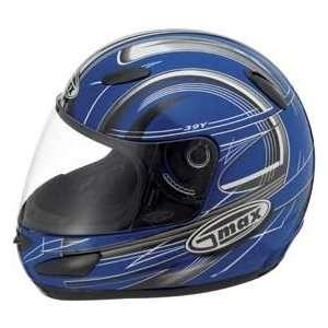 Max GM39Y Helmet, Blue/Black/White Blue/Black/White, Size Sm, Size