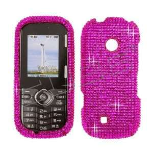 Jewel Rhinestone Bling Solid HOT Pink Cell Phones & Accessories