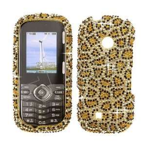 Jewel Rhinestone Bling Gold Leopard Design Cell Phones & Accessories
