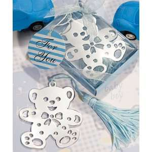 Teddy Bear Bookmark Baby Shower Favors   Blue or Pink